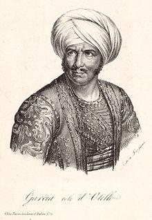 Manuel García in de rol van Otello.