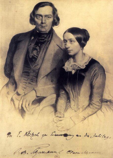 Robert en Clara Schumann.