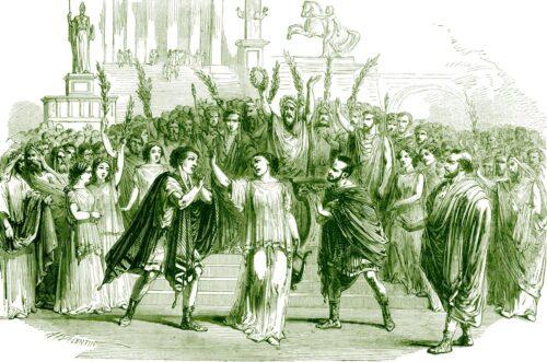 Scène uit 'Sapho' van Charles Gounod.